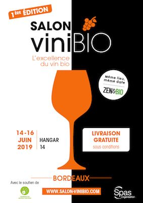 Affiche salon VINIBIO Bordeaux 2019
