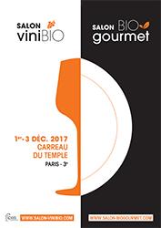 visuel affiche salon Vinibio - Biogourmet paris