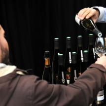 VINIBIO 2017 - visiteur goutant du vin